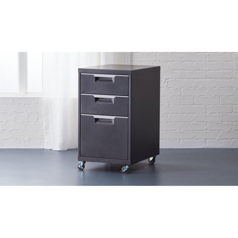TPS carbon rolling file cabinet  Reviews  CB2