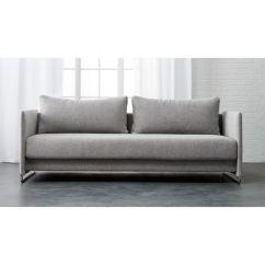 Leather Sofa Bed Sleeper Klippan 4 Seat Size Tandom + Reviews | Cb2