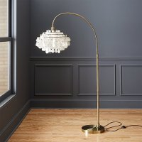 teardrops arc floor lamp | CB2