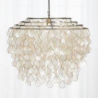 teardrops capiz chandelier | CB2