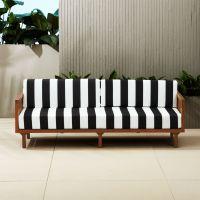 tropez black and white stripe sofa | CB2