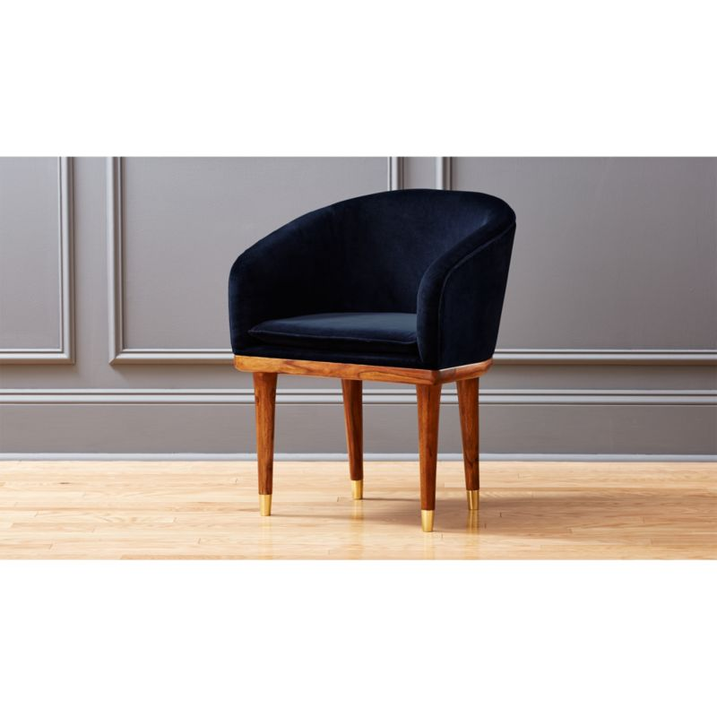 viceroy sapphire blue velvet chair in accent chairs