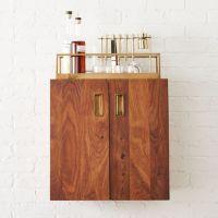 wall mounted bar cabinet | CB2