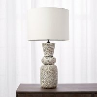 Ziggy Black and White Striped Table Lamp | CB2