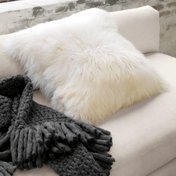 "Icelandic Sheepskin 24"" Pillow-cushion With"