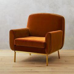Woven Lounge Chair Diy Swing Halo Orange Velvet Armchair + Reviews | Cb2