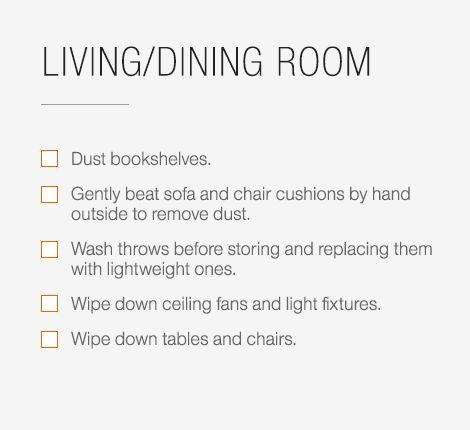 Spring Cleaning Checklist  Idea Central  CB2 Blog