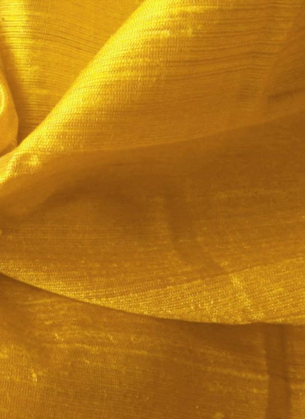 Mustard Yellow Art Dupion Silk Fabric Blended-solids Online Shopping Fasuv023