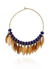 Buy Gold N Blue Hoop Earrings, hoops Online Shopping ...