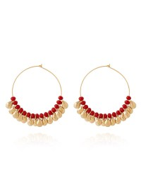Buy Gold N Red Hoop Earrings, hoops Online Shopping ...
