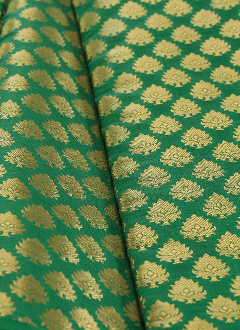 Buy Green Art Silk Brocade Fabric Brocade blended patterned Online Shopping  FWHS0889