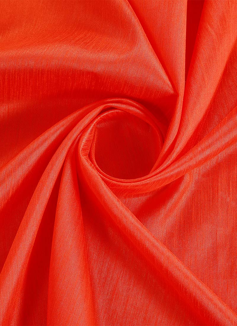 Buy Orange Art Silk Fabric Art Silk blended solids