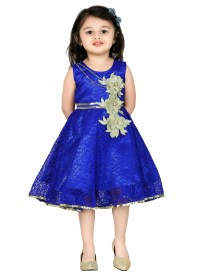 Buy Royal Blue Net Kids Dress, girls