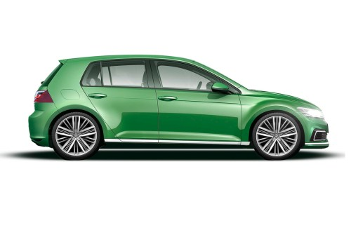 small resolution of the new car is also said to have more pronounced wheel arches and a heavily defined side swage line in combination with typically wide c pillars and a