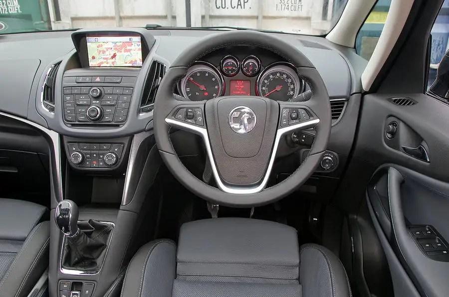 Vauxhall Zafira Tourer interior  Autocar