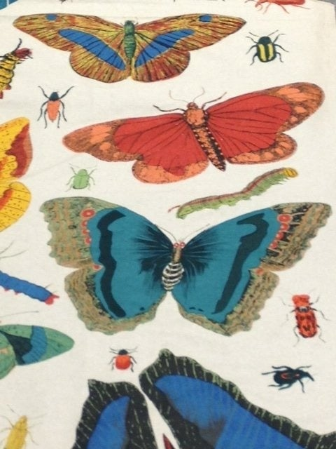 Butterfly Print Upholstery Fabric