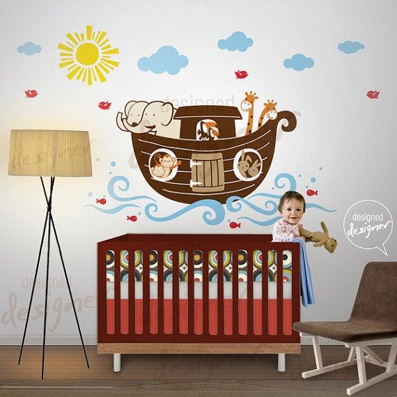 Noahs Ark Wall Decal Decor Sticker Dd1061 Childrens Kids