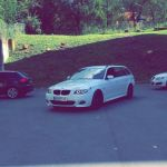 My Bmw E61 525 Xd Touring In Alpina Weiss With M Package Black Grill And Black 18 M Wheels It S Not The Fastest And A Diesel But A Great Daily That Looks