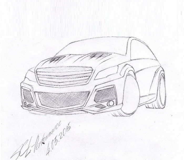 Simple Mercedes Benz Drawing