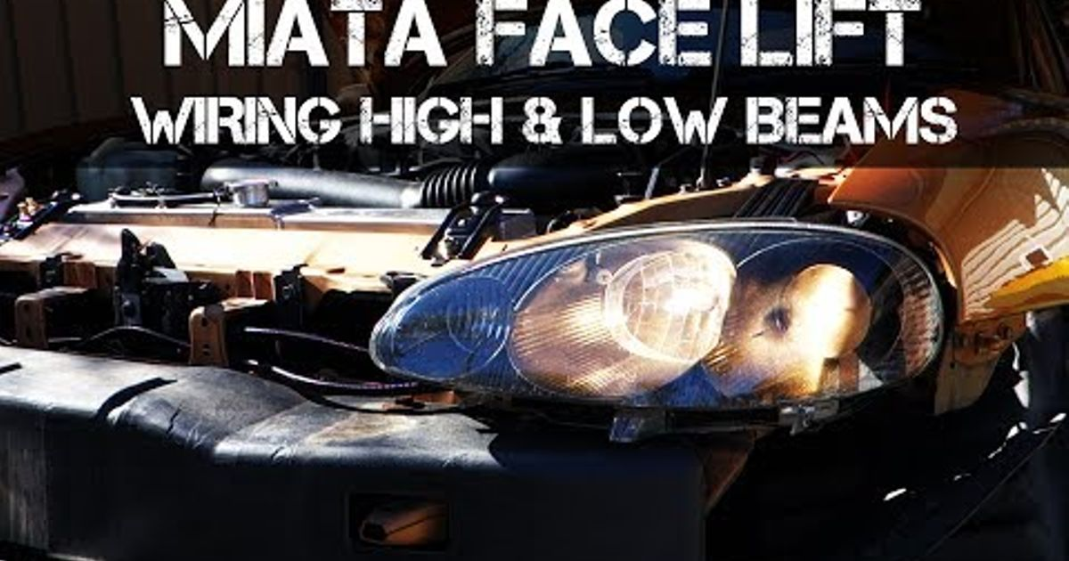 headlight motor wiring miata vectra b xenon diagram video guide nb2 headlights in to nb1 with working high hqdefault jpg