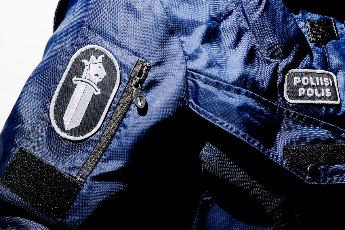 Detail of a police uniform.