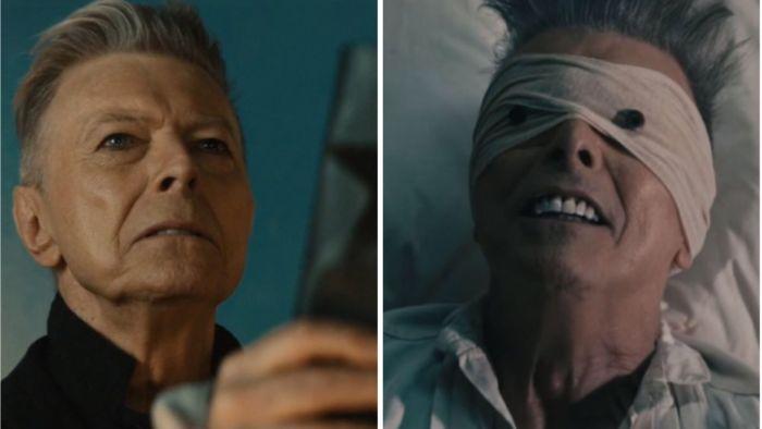 Kuvat David Bowien musiikkivideoista Blackstar ja Lazarus.