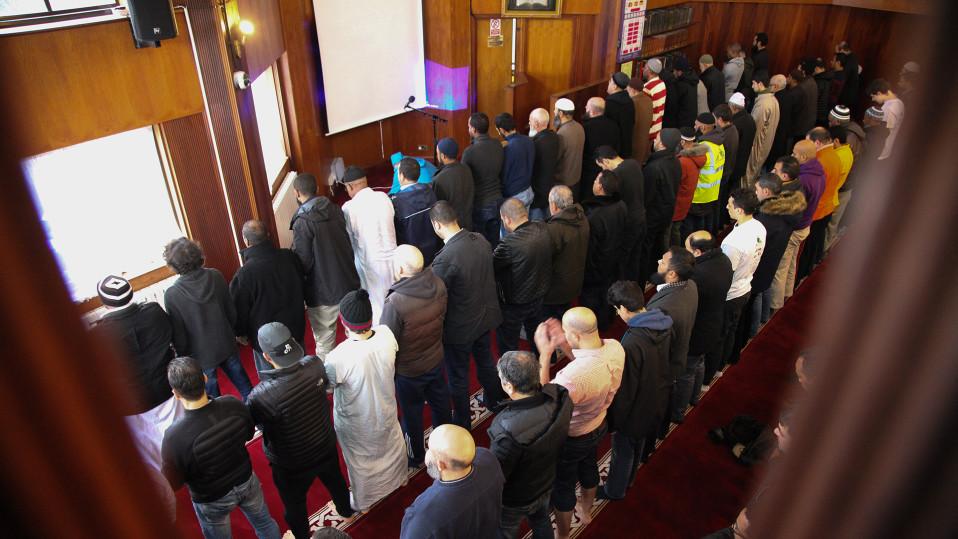 Finsbury Parkin moskeijan interiööri kuvattuna 5. helmikuuta 2017 osana 'Visit my Mosque initiative' -tapahtumaa.