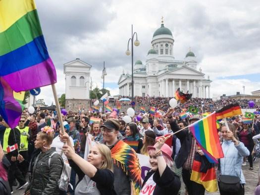 Record-breaking 100K people march in Helsinki Pride