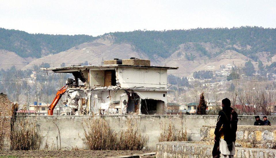 Talo jossa Osama bin Laden piilotteli.