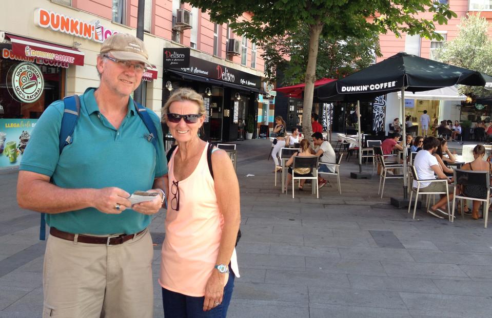 Yhdysvaltalaiset Steve ja Sharleen tulivat Espanjaan ruuan, viinien ja erilaisen historian takia.