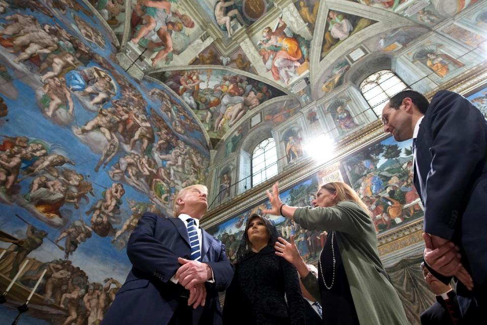 Yhdysvaltain presidentti Donald Trump ja hänen puolisonsa Melania