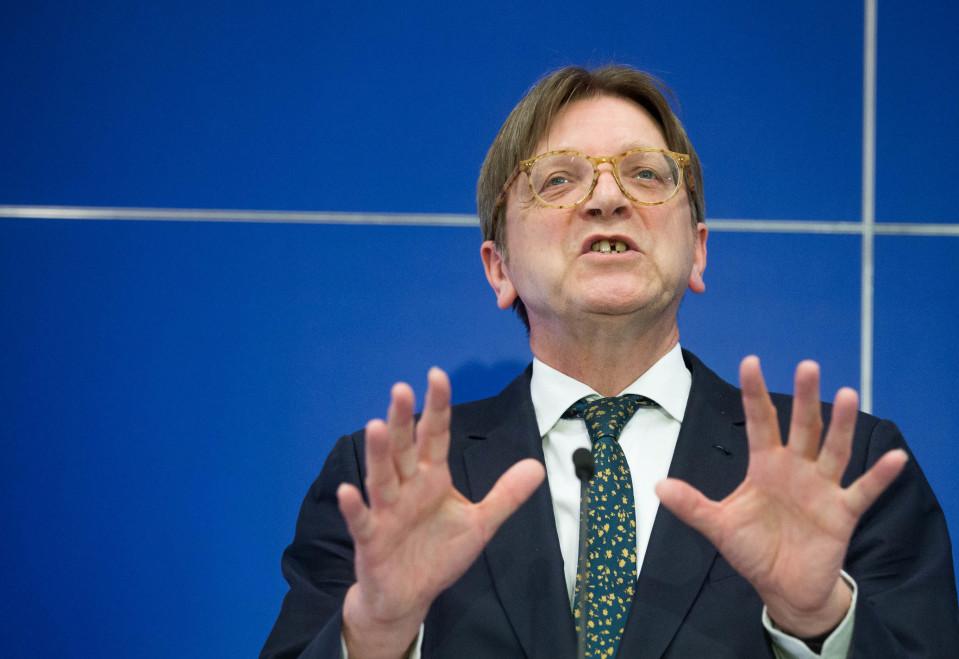 EU-parlamentin Brexit-koordinaattori on Guy Verhofstadt.