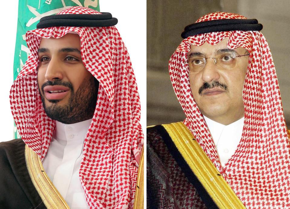 Kuvassa vasemmalla Muhammad bin Salman ja oikealla Muhammad bin Nayef.