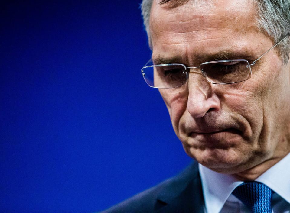 Pääsihteeri Jens Stoltenberg puhui Naton päämajassa Brysselissä tiistaina 14. helmikuuta.