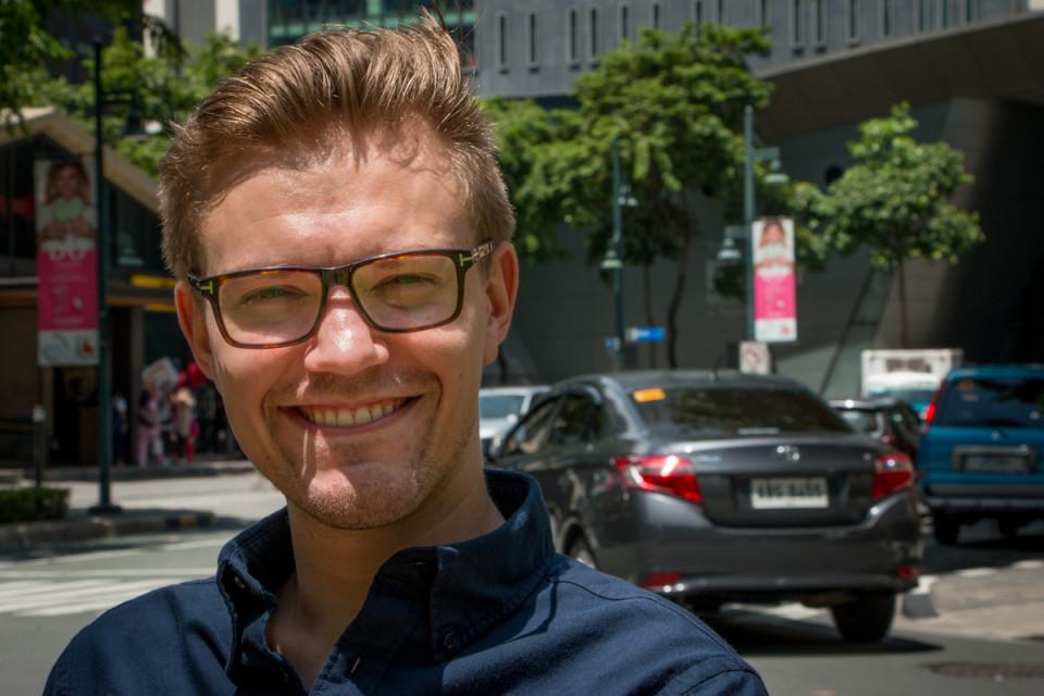 Juho-Erik Kolehmaisella on työkokemusta Suomesta, Filippiineiltä ja Kiinasta.
