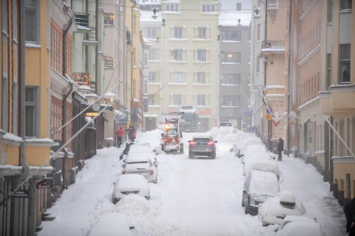 Snowstorm in Helsinki.13.1.2021.