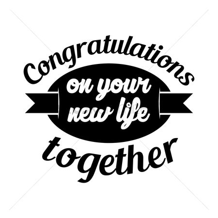 Free Congratulations New Life Together Stock Vectors