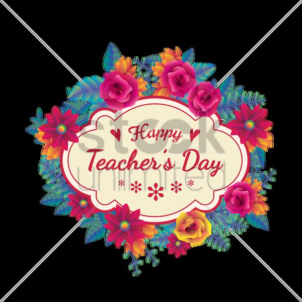 Happy Teachers Day Design Vector Image 1968167