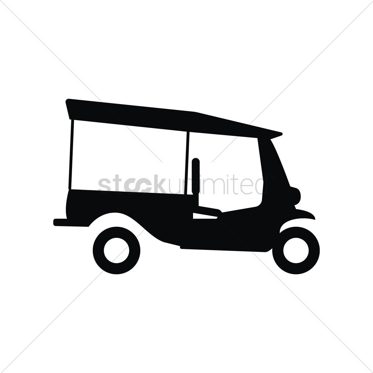 Auto Rickshaw Vector Image