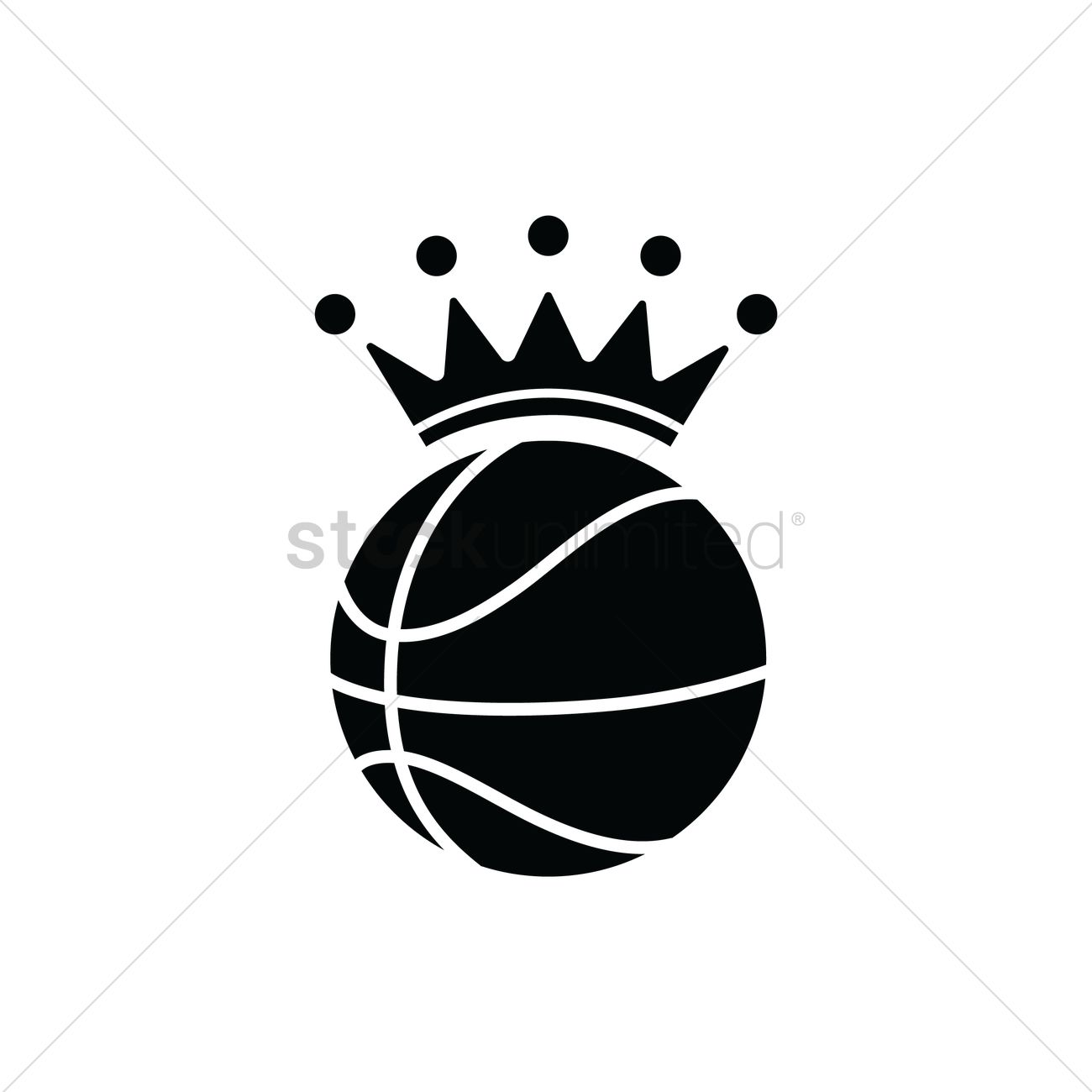 Basketball With A Crown Vector Image