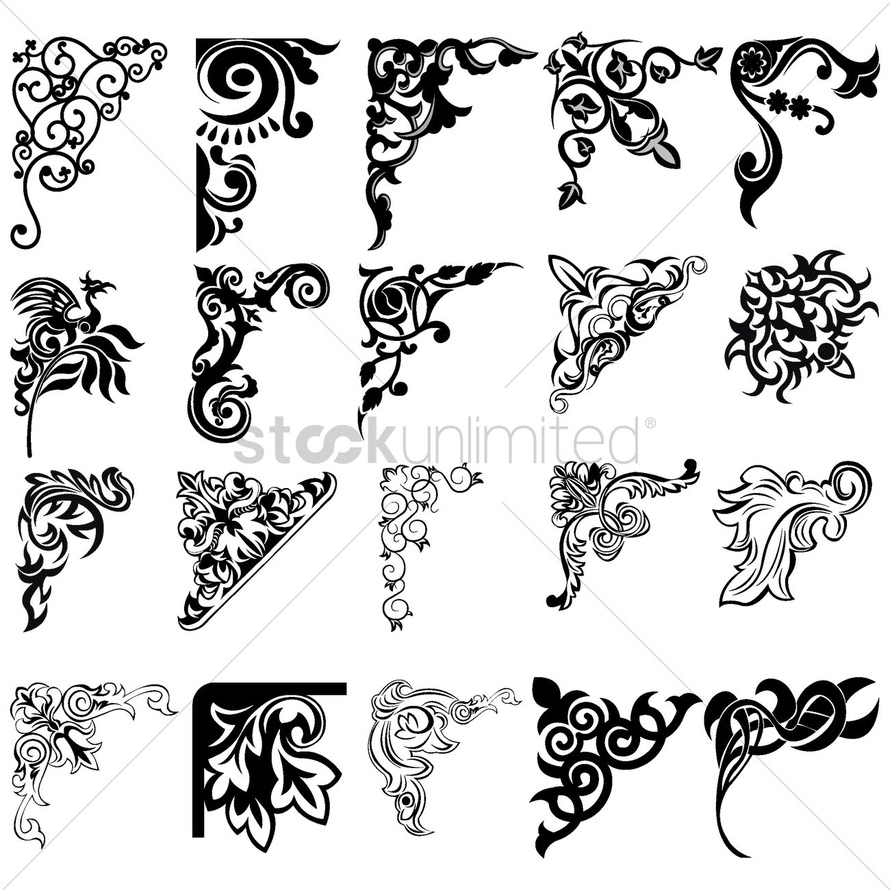 monogram filigree design templates