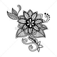Decorative flower design Vector Image - 1570319 ...