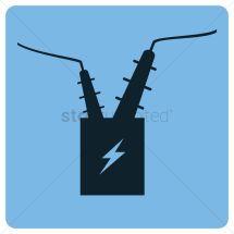 Electric Substation Transformer Vector - 1248375