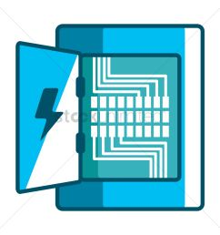 electricity distribution box vector graphic [ 1300 x 1300 Pixel ]