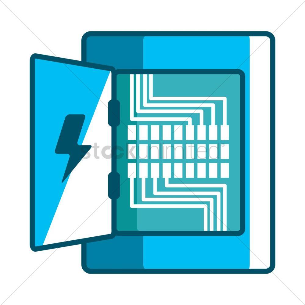 medium resolution of electricity distribution box vector graphic