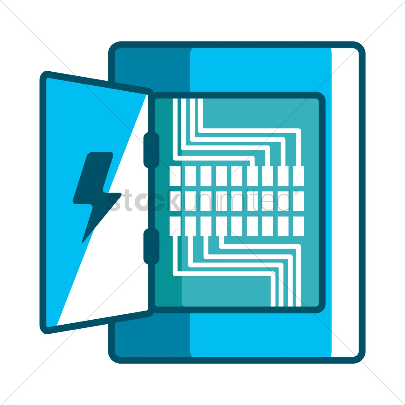 hight resolution of electricity distribution box vector graphic