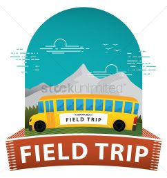field trip poster vector graphic [ 1300 x 1300 Pixel ]