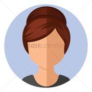 girl with hair bun updo vector