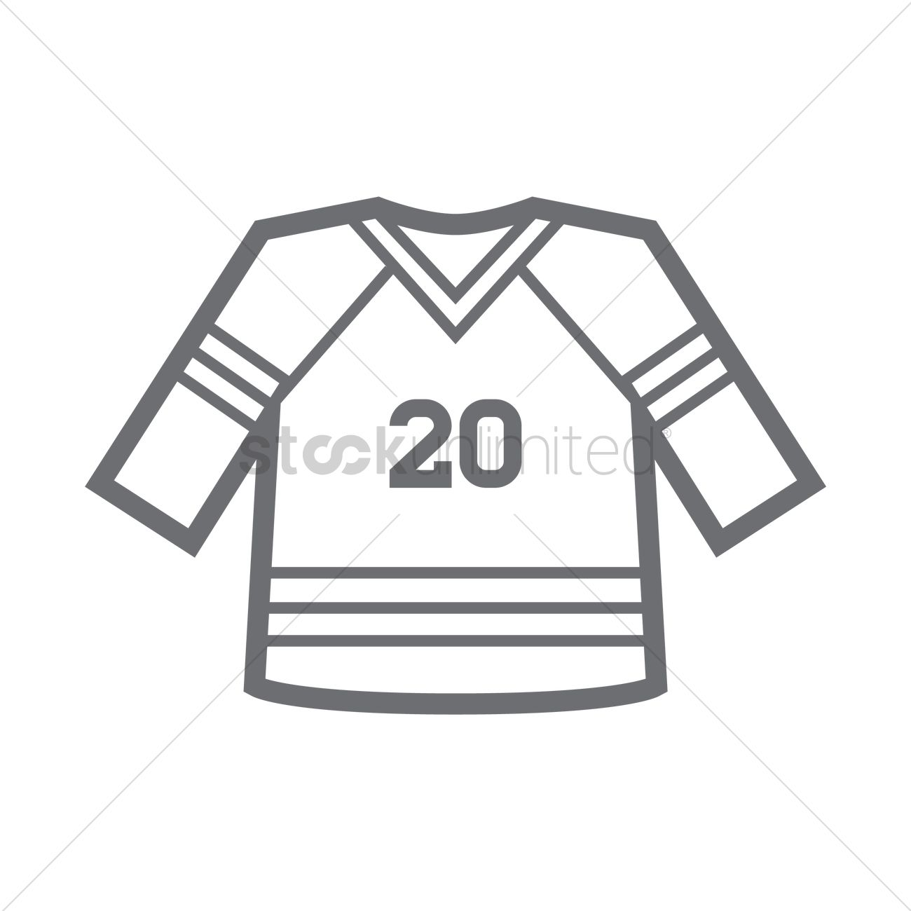 Ice Hockey Jersey Vector Image
