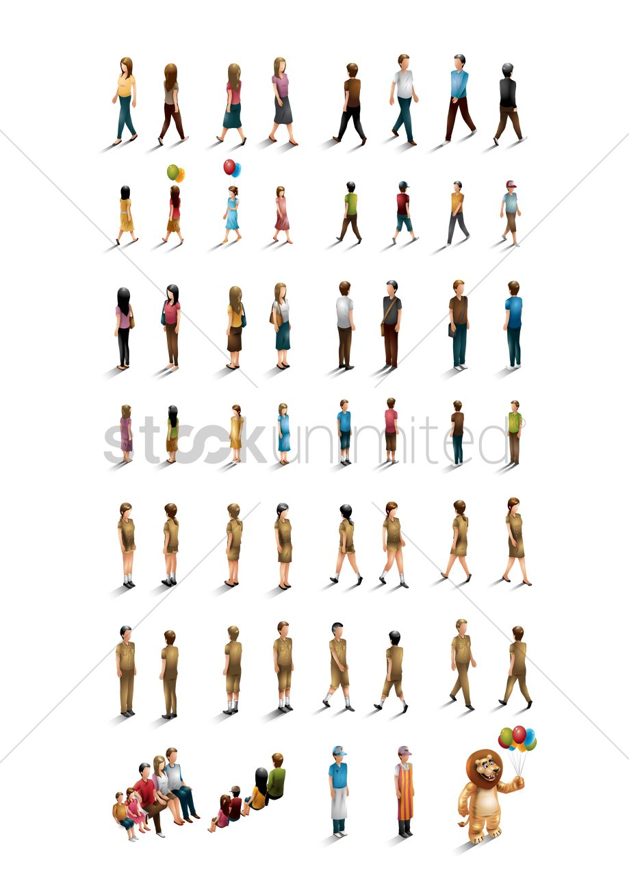 Isometric People Collection Vector Image 1552151